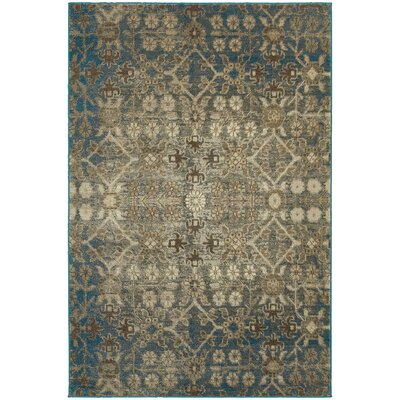 Pheonix Midnight/Ivory Area Rug Rug Size: Rectangle 53 x 76