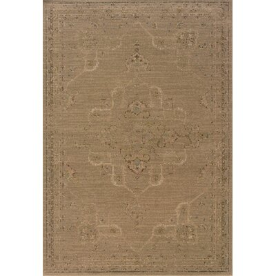 Albertina Tan/Beige Area Rug Rug Size: Rectangle 53 x 76