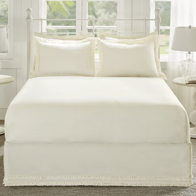 Acton Bed Skirt Size: Queen, Color: Ivory