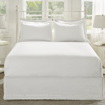 Acton Bed Skirt Size: Full, Color: White
