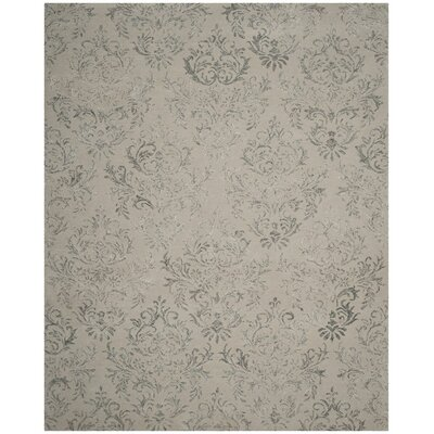 Bangle Lake Hand-Tufted Gray Area Rug Rug Size: 8 x 10
