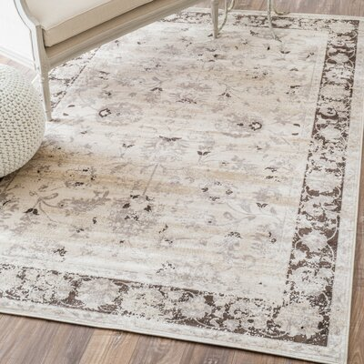 Spurlock Vintage Beige Area Rug Rug Size: Rectangle 52 x 8