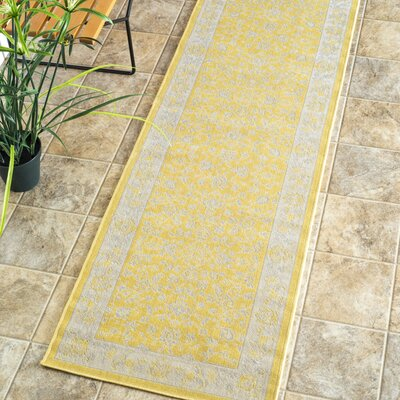 Allendale Yellow Indoor/Outdoor Area Rug Rug Size: Runner 2 x 76
