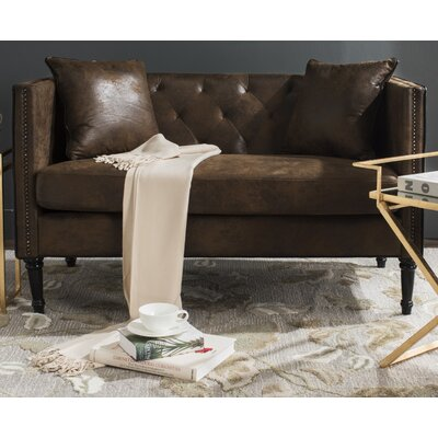 Vanves Chesterfield Settee Upholstery: Vintage Brown