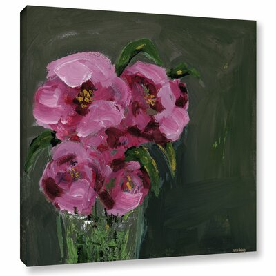 Romantic Floral IV Painting Print on Wrapped Canvas Size: 10