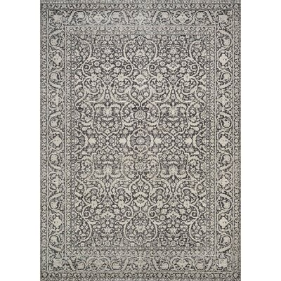 Attie Burnt Kindling/ Gray Area Rug Rug Size: 53 x 76