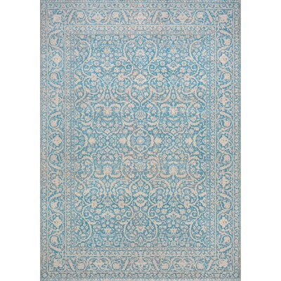 Attie Ocean Blue Area Rug Rug Size: Rectangle 92 x 129