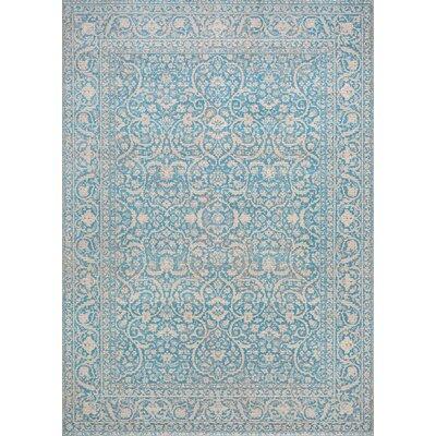 Attie Ocean Blue Area Rug Rug Size: 710 x 109