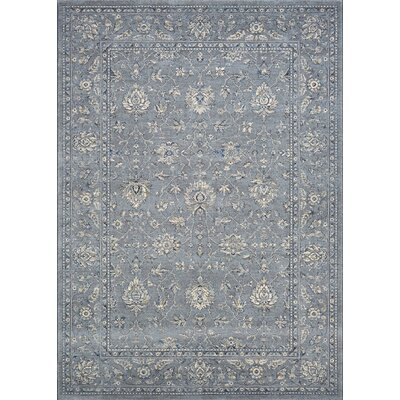 Johnston All Over Mashhad Slate Blue Area Rug Rug Size: Rectangle 92 x 125