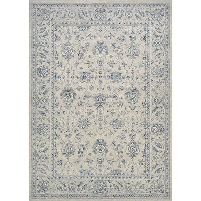 Johnston All Over Mashhad Gray Area Rug Rug Size: 92 x 125