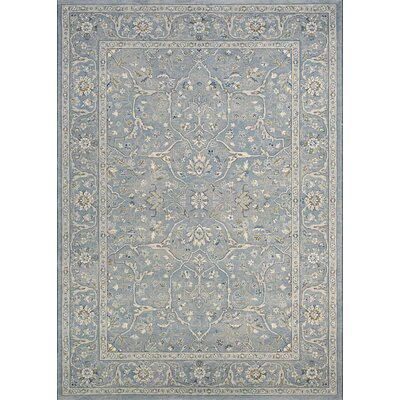 Johnston Floral Yazd Slate Blue Area Rug Rug Size: Rectangle 53 x 76