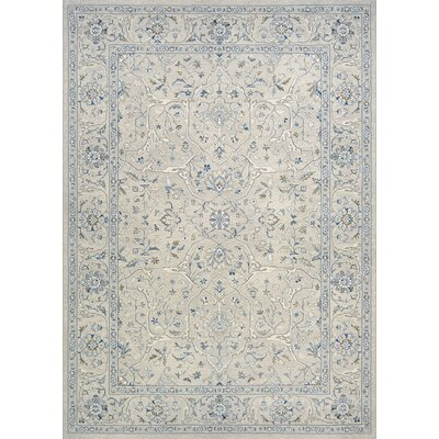 Johnston Floral Yazd Gray Area Rug Rug Size: 53 x 76