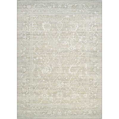 Alison Persian Arabesque Bone Area Rug Rug Size: 5'3