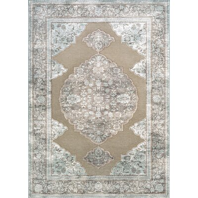 Amethyst Brown/Gray Area Rug Rug Size: 53 x 76