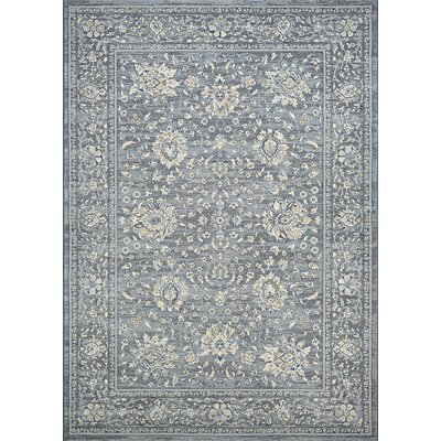 Johnston Isfahan Handmade Slate Area Rug Rug Size: Rectangle 53 x 76