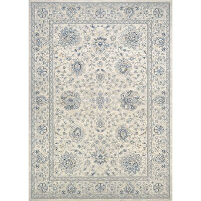 Johnston Isfahan Handmade Antique Cream Area Rug Rug Size: Rectangle 92 x 125