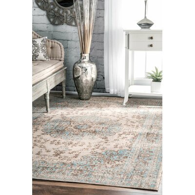 Sheldon Beige Area Rug Rug Size: Rectangle 8 x 10