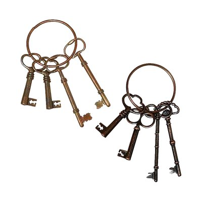 2-Piece Franklin Key Ring Decor Set