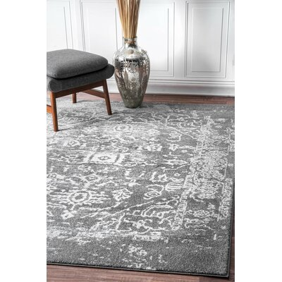 Hurst Charcoal Area Rug Rug Size: Rectangle 9 x 12