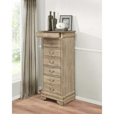 Corbeil 6 Drawer Lingerie Chest Color: Driftwood