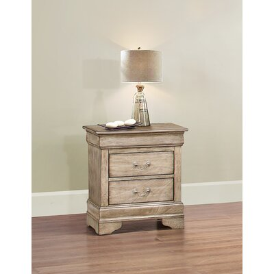 Corbeil 2 Drawer Nightstand Color: Driftwood