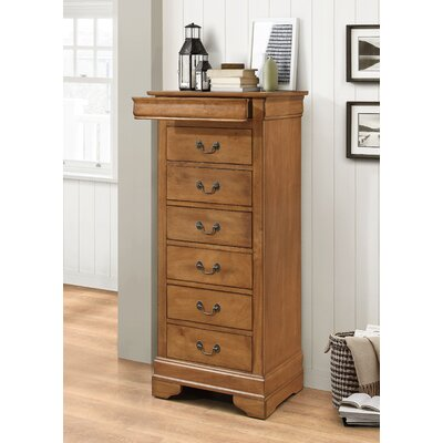 Corbeil 6 Drawer Lingerie Chest Finish: Light Walnut