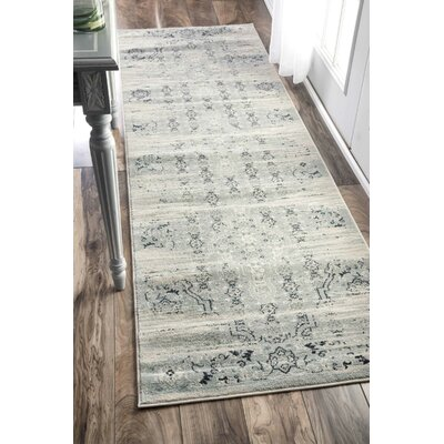 Amistey Lake Blue Area Rug Rug Size: Runner 26 x 8