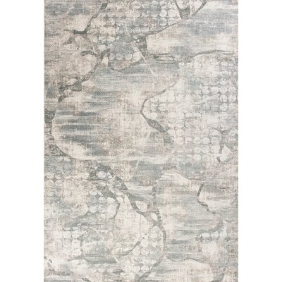 Camellia Visions Ivory/Mist Area Rug Rug Size: 33 x 47