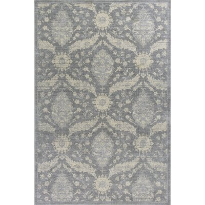 Pattison Gray Area Rug Rug Size: 53 x 77