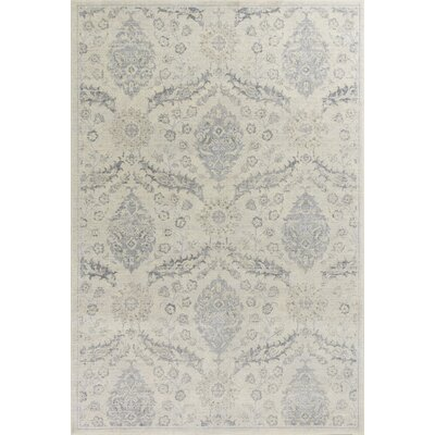 Pattison Beige/Gray Area Rug Rug Size: Rectangle 53 x 77