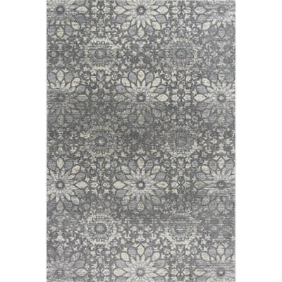 Pattison Mosaic Charcoal Area Rug Rug Size: Rectangle 53 x 77
