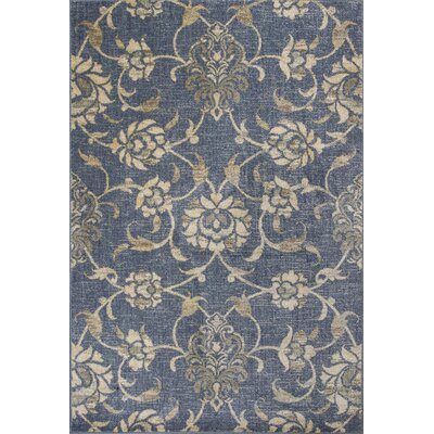 Naiara Peony Blue Area Rug Rug Size: Rectangle 53 x 78