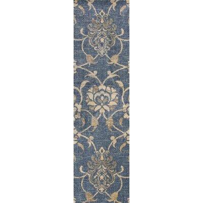 Naiara Peony Blue Area Rug Rug Size: Runner 22 x 711