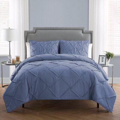 Erwan 3 Piece Comforter Set Color: Infinity, Size: Queen