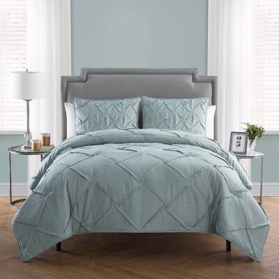 Erwan 3 Piece Comforter Set Color: Jadeite, Size: Queen