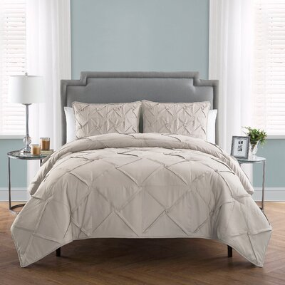 Erwan 3 Piece Comforter Set Color: Birch, Size: King