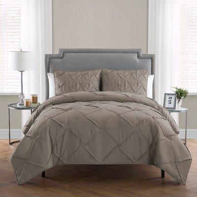 Erwan 3 Piece Comforter Set Color: Greige, Size: Queen