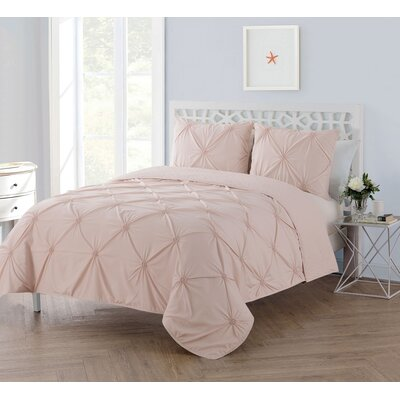 Regina 2 Piece Reversible Twin/Twin XL Quilt Set Color: Blush