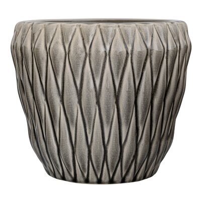 Aurelien Ceramic Pot Planter Color: Gray