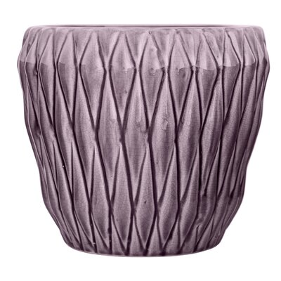 Aurelien Ceramic Pot Planter Color: Purple
