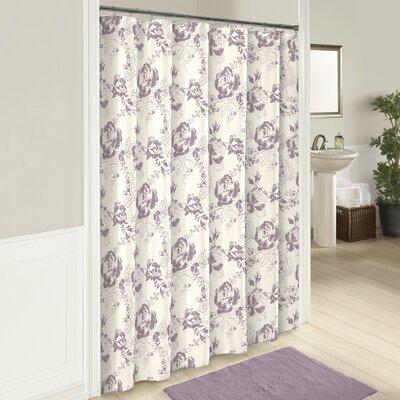 Patton Cotton Shower Curtain Color: Purple