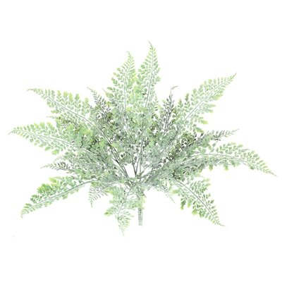 Artificial Green Frosted Fern Bush Foliage Plant