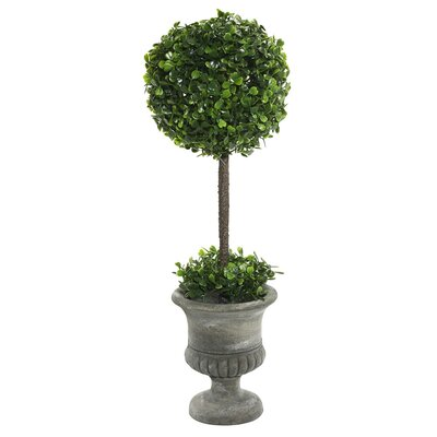 Artificial Boxwood Foliage Topiary in Urn