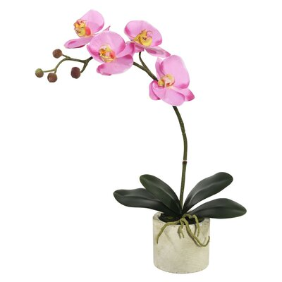 Artificial Orchid Flowers in Pot