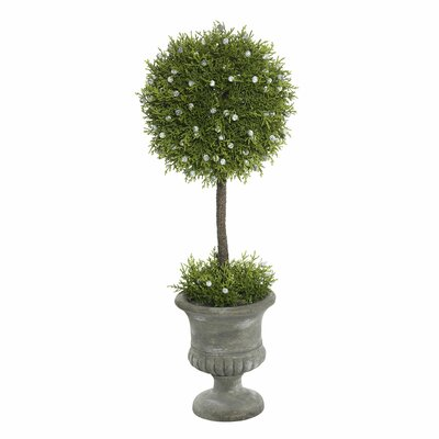 Artificial Oregan Juniper Foliage Topiary in Urn