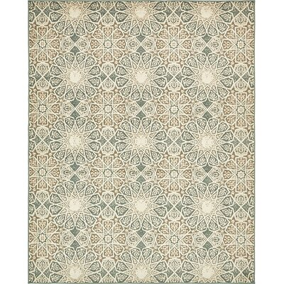 Kentville Sage Green/Cream/Brown Area Rug Rug Size: 8 x 10