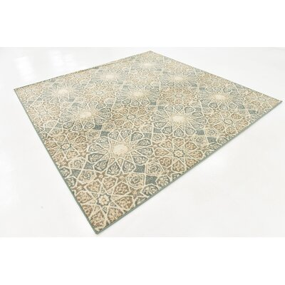 Pauley Sage Green/Cream/Brown Area Rug Rug Size: Square 8
