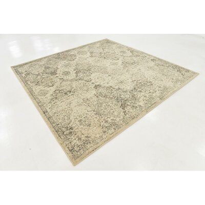 Alessa Abstract Beige Area Rug Rug Size: Square 8