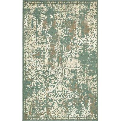 Forcalquier Tibetan Green Area Rug Rug Size: 5 x 8