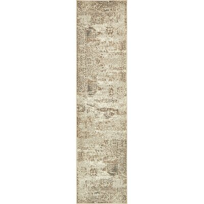 Forcalquier Abstract Cream Area Rug Rug Size: Runner 26 x 10